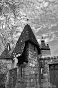 Travel photography:Towers in Budapest´s Vajdahunyad castle, Hungary