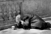 Travel photography:Beggar in Budapest, Hungary