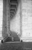 Travel photography:Columns on St. Peters square, Vatican