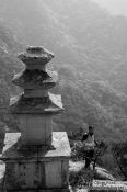 Travel photography:Gyeongju Namsan mountain three storied pagoda at Yongjangsa, South Korea