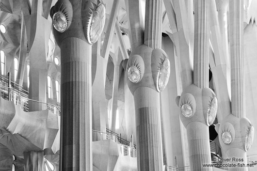 Barcelona Sagrada Familia interior pillars