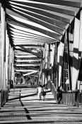 Travel photography:Pedestrian bridge near the Barcelona Forum, Spain