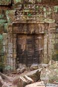 Travel photography:Stone door at Ta Prom , Cambodia