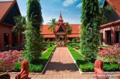 Travel photography:Courtyard of the Phnom Penh National Museum , Cambodia