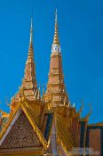 Travel photography:Roof detail of the Throne Hall at the Phnom Penh Royal Palace , Cambodia