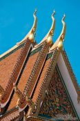 Travel photography:Gable at a temple in Phnom Penh, Cambodia