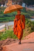 Travel photography:Buddhist monk in Battambang, Cambodia