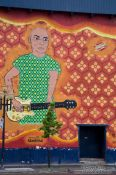 Travel photography:Guitar player mural in Montreal, Canada