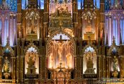 Travel photography:Main altar of the Basilica de Notre Dame cathedral in Montreal, Canada