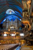 Travel photography:Inside the Basilica de Notre Dame cathedral in Montreal, Canada