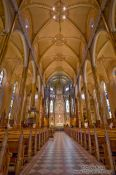 Travel photography:Inside the Saint Patricks basilica in Montreal, Canada