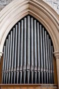 Travel photography:Organ pipes in St. John´s basilica, Canada