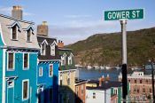 Travel photography:Row of wooden houses in St. John´s, Canada