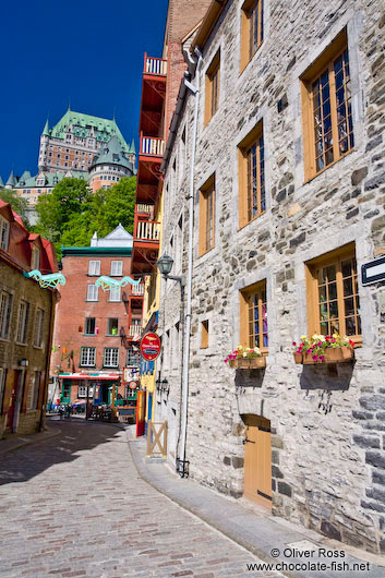 Houses in Quebec´s lower old town (basse ville)