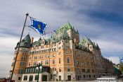 Travel photography:The Château Frontenac castle in Quebec, Canada