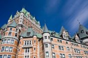 Travel photography:Close-up of the Château Frontenac castle in Quebec, Canada