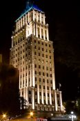 Travel photography:High-rise building in Quebec by night, Canada