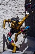 Travel photography:Sculpture of a jester in Quebec, Canada