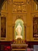 Travel photography:Inside the Basilica Notre Dame cathedral in Quebec City, Canada