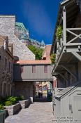 Travel photography:Old wooden houses in Quebec´s lower old town (basse ville), Canada