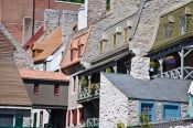 Travel photography:Old houses in Quebec´s lower old town (basse ville), Canada