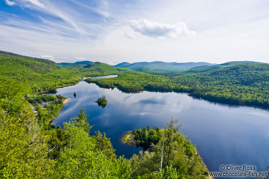 The Lac Monroe lake in Quebec´s Mont Tremblant National Park
