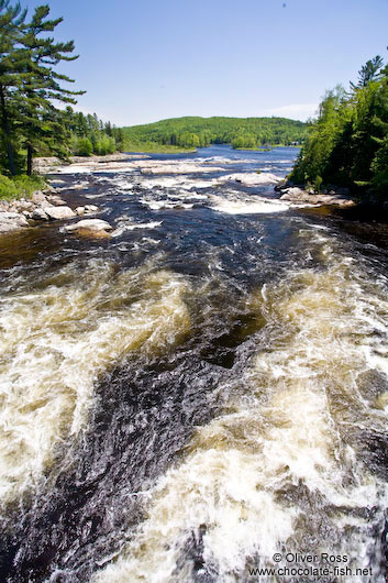 River in Lake near Quebec´s Mont Tremblant National Park