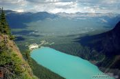 Travel photography:Aerial view of Lake Louise, Canada