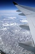 Travel photography:Baffin Island from the air, Canada