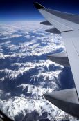Travel photography:The Rocky Mountains from the air, Canada