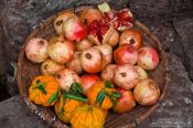 Travel photography:Basket with local fruit in Lijiang, China