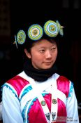 Travel photography:Girl with traditional Naxi dress in Lijiang, China