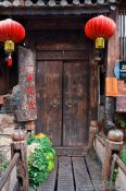 Travel photography:Entrance to a house in Lijiang´s old town , China