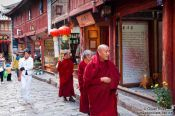 Travel photography:Monks in a Lijiang street, China