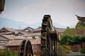 Travel photography:Old mill wheels in Lijiang, China