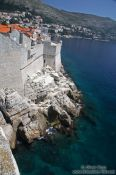 Travel photography:View of the city wall of Dubrovnik, Croatia