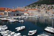 Travel photography:Dubrovnik harbour, Croatia
