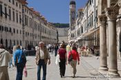 Travel photography:Dubrovnik main street, Croatia