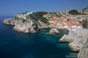 Travel photography:View from Dubrovnik`s city wall, Croatia