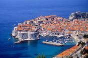 Travel photography:Aerial view of Dubrovnik, Croatia