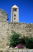 Travel photography:Church tower in Rab, Croatia