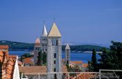 Travel photography:The four towers in Rab town, Croatia