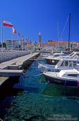 Travel photography:Boat harbour in Rab, Croatia