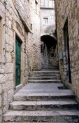 Travel photography:Small alley in Rab`s old town, Croatia