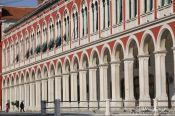 Travel photography:Colonnade on Trg Republike (Republic square) in Split, Croatia