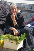 Travel photography:Woman at Trogir market, Croatia