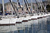 Travel photography:Boats in Trogir harbour, Croatia