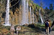 Travel photography:Waterfalls in Plitvice (Plitvicka) National Park, Croatia