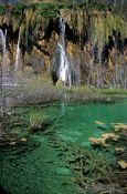 Travel photography:Small lakes with waterfall in Plitvice National Park, Croatia