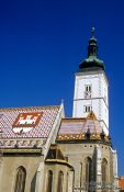 Travel photography:The Crkva Svetog Marka (Saint Mark`s Church) in Zagreb, Croatia